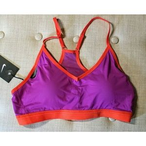 Nike Pro Indy Purple Red Light Support Sports Bra